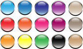 15 buttons in web2.0 style! — Stock Photo