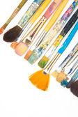 Brushes on white background. intresting — Stock Photo