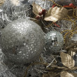 Stock Photo: Gold and silver tinsel