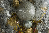 Gold and silver tinsel — Stock fotografie