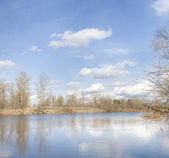 Spring ukrainian river — Stock Photo
