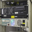 Stock Photo: Industrial server in rack of collocation
