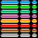 Aqua web buttons — Stock Photo