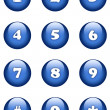 Numbers buttons — Stock Photo