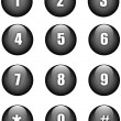Numbers buttons — Stock Vector