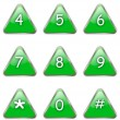 Stock Vector: Numbers buttons