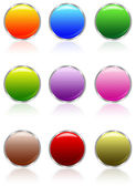 Aqua buttons — Stock Photo
