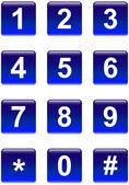 Botones de números — Vector de stock
