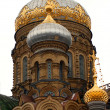 Cupola on russian church — Stock Photo