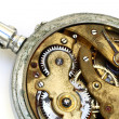 Stock Photo: Old pocket watch rusty gear