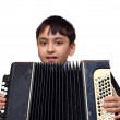 Boy plays on accordion — Stock Photo #1113846