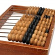 Old wooden abacus close-up — Stock Photo