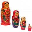 Russian wooden dolls - matreshka — Stock Photo