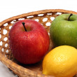 Basket with wet fruits — Stock Photo #1114007