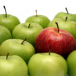 Different concepts with apples — Stock Photo