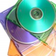 Colored dvd compact discs — Stock Photo #1114367