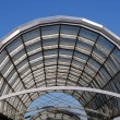 Arc steel and glass roof — Stock Photo