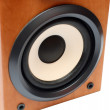 Round bass sound speaker - Stock Photo