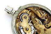 Vecchio ingranaggio orologio arrugginito di tasca — Foto Stock