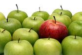 Diferentes conceptos con manzanas — Foto de Stock