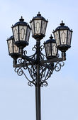 Old black street lamp — Stock Photo