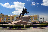 Peter 1 monument in Saint-petersburg — Stock Photo