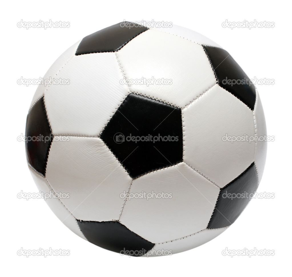 Football soccer ball isolated on white — ストック写真 #1115652