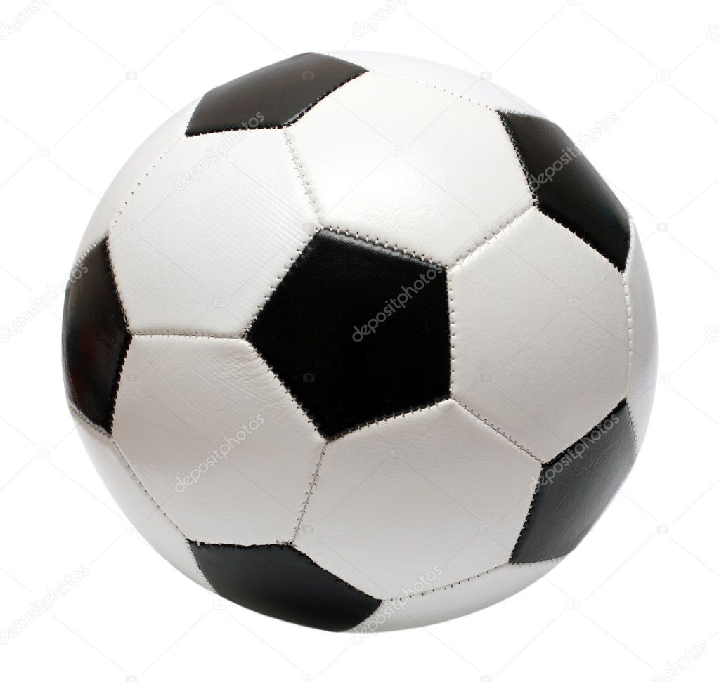Football soccer ball isolated on white — Photo #1115652