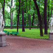 Stock Photo: Summer gardens in Saint Petersburg