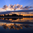 Reflection sunrise — Stock Photo