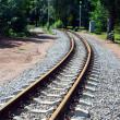 Narrow-gauge curve railway — Stock Photo