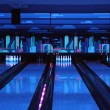 Bowling playing hall - Stock Photo