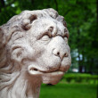 Stone lion head - Stock Photo