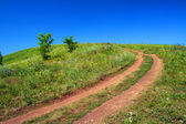Road uphill — Stockfoto