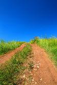 Rural road uphill — Stock Photo