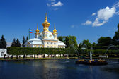 Dome in petrodvorets saint-petersburg — Stock Photo