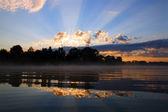 Reflection sunrise — Stock Photo