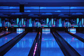 Bowling playing hall — Stock Photo