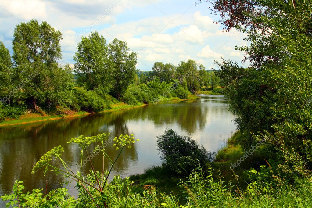 Summer Lake Landscape Stock Photo Kokhanchikov 1129693