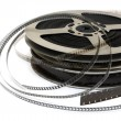 Stack of old movie films — Stock Photo
