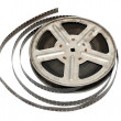 Old movie film on metal reel — Stock Photo #1583563
