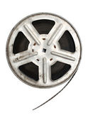 Old movie film on metal reel — Stock Photo