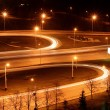 Traffic on night road junction — Stock Photo #1593411