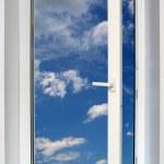 View on blue sky through open window — Stock Photo