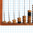 Increase diagram on old abacus — Stock Photo