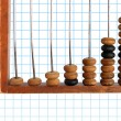 Increase diagram on old abacus — Foto Stock