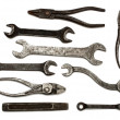 Set of old dirty tools — Stock Photo