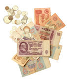 Old soviet russian money — Stock Photo