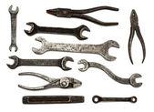 Set di strumenti sporchi vecchi — Foto Stock