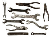 Set of old dirty tools — Foto Stock